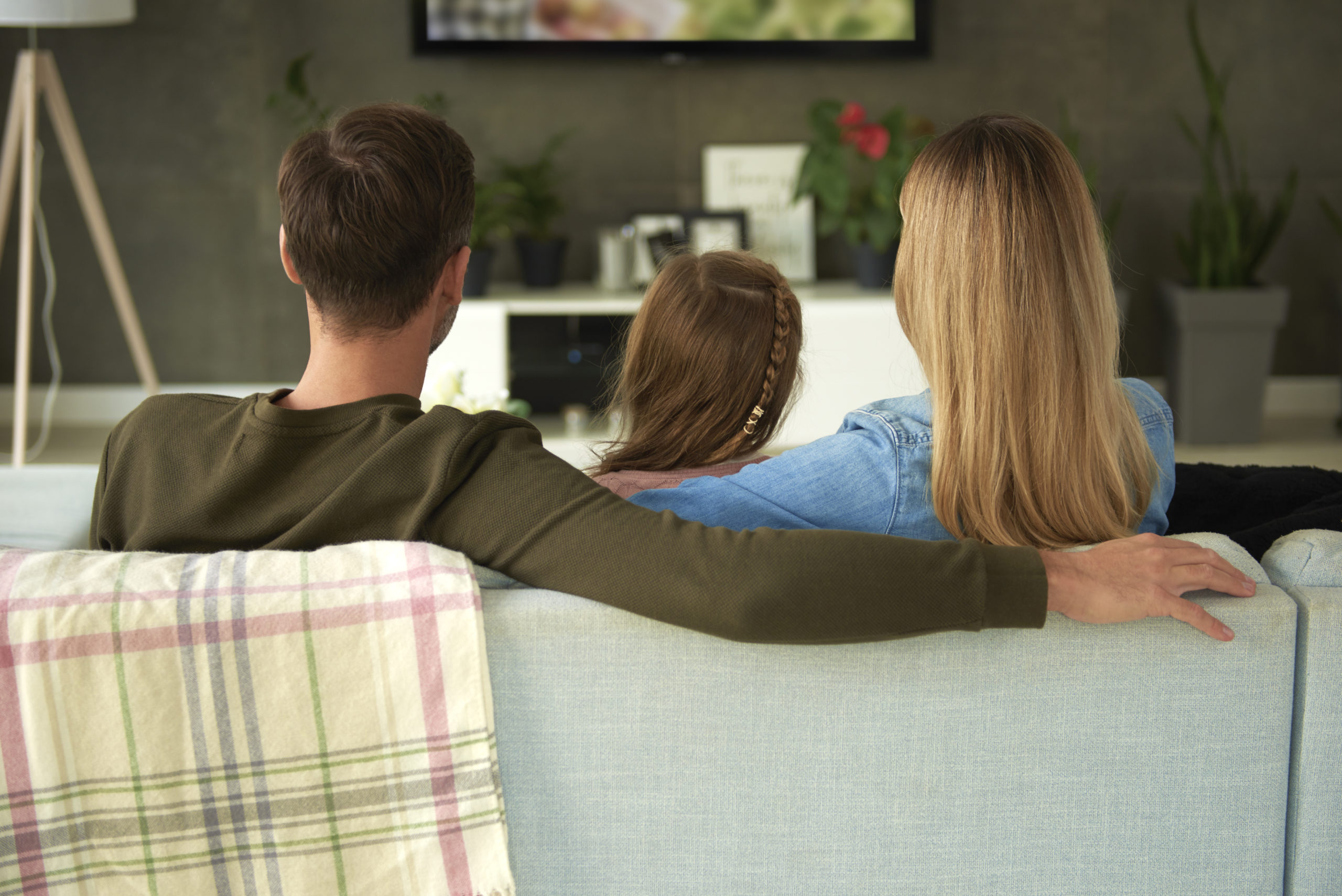 Disney Plus Chromecast buffering https://elements.envato.com/rear-view-of-family-with-one-child-watching-tv-6RAEP4S