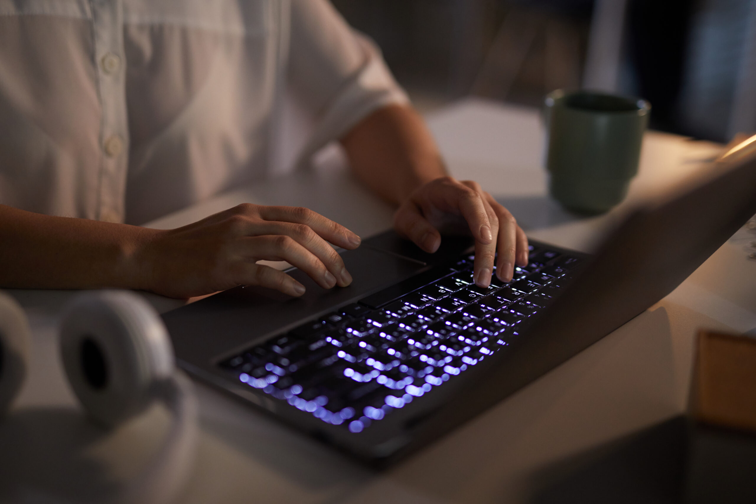 laptop with backlit keyboard